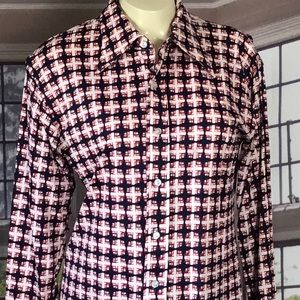 Vintage 70s Polyester HUK A POO Button Down Shirt